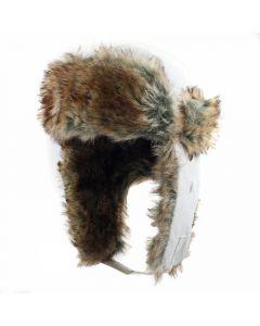 Шапка-вушанка Neverland Snow біла
