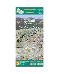 Туристична карта Західні Горгани. Хребет Пішконя