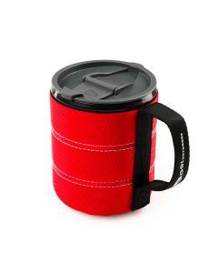 Горнятко з неопреновим захистом GSI Outdoors Infinity Bacpacker Mug, червоний, А000009189