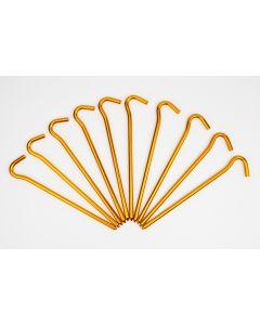 Кілки до намету Pegs Alu 18 см, 10шт, оранжевий, 18 см, А000010108